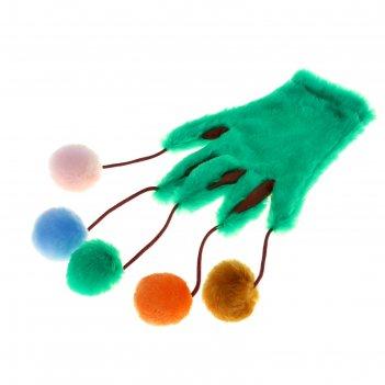 Игрушка перчатка-дразнилка, микс цветов