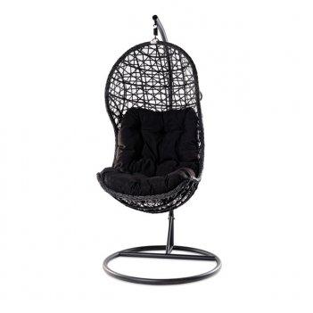 Подвесное кресло для сада joygarden cand black, садовая мебель