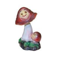 Фигура декоративная садовая гриб 11,5*8,5*16см