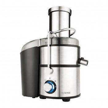 Соковыжималка vitek vt-3668 st,центробежная, 1500 вт, 2 скорости, 1.1 л/2