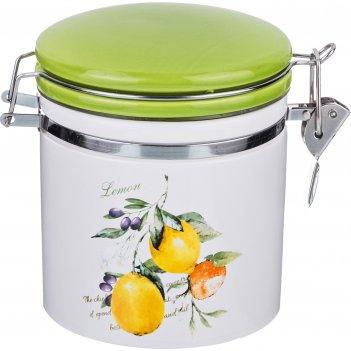 Банка для сыпучих продуктов с клипсой итальянские лимоны 470 мл. 12,3*10,2