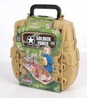 Игровой набор нано-армия мини трек в рюкзаке с наполнением звук свет