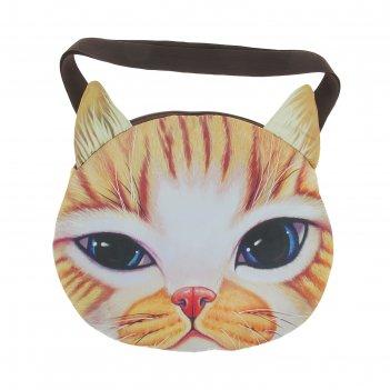 Мягкая сумка котик рыжий в полоску