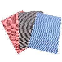 Ткань на клеевой основе для скрапбукинга (набор 3 листа) полоски 20х28 см