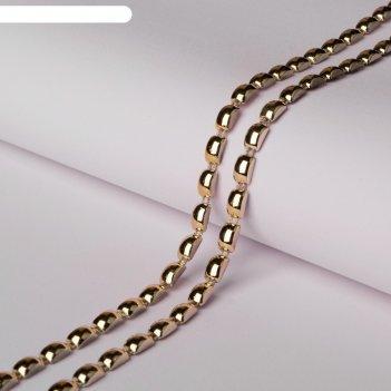 Тесьма металлизированная «прямоугольник», 8 x 5 мм, 5,5 ± 0,5 м, цвет золо