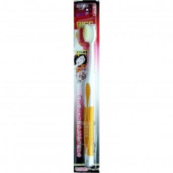 Зубная щетка ebisu с комбинированным прямым срезом ворса, жёсткая