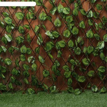 Ограждение декоративное, 200 x 120 см, «лист осины», greengo