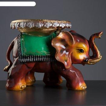 Фигура-подставка слон индийский 32х45см
