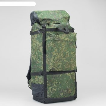 Рюкзак туристический на стяжке шнурком пиксель, 1 отдел, 3 наружных карман