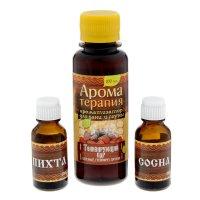 Набор 2 аромамасла и ароматизатор для бани добрый пар