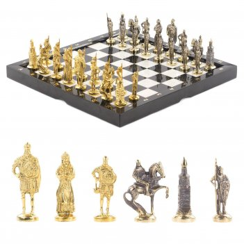 Шахматы русские бронза мрамор 365х365 мм