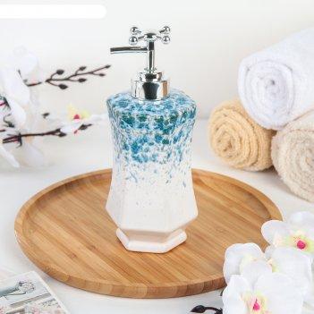 Дозатор для жидкого мыла «эльза», цвет голубой