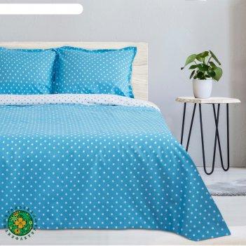 Постельное бельё этель дуэт голубая карамель, размер 143х215 см - 2 шт., 2
