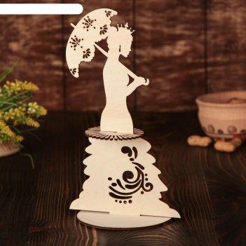 Салфетница «дама с зонтиком», 26x15x0,3 см