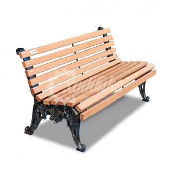 Скамейка с композитом «белые ночи» 1,8 м