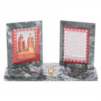Икона настольная молитва о покровительстве супружества змеевик 180х70х105