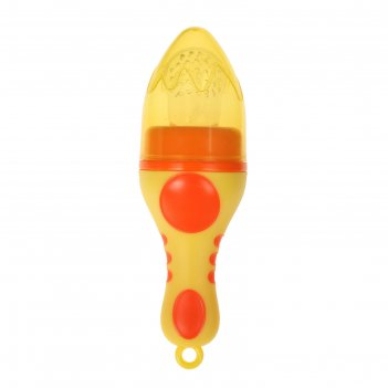 Изделие для прикорма с силиконовой сеточкой, цвет жёлтый/оранжевый
