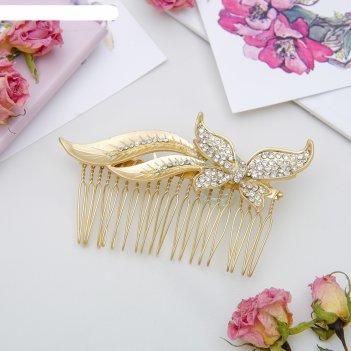 Гребень для волос перфект 6,5*9,5 см шлейф бабочки