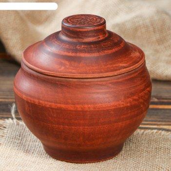 Горшок для запекания, 0,7 л, ангоб, красная глина
