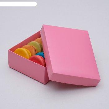 Коробка картонная без окна, розовый, 16,5 х 12,5 х 5,2 см