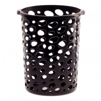 Корзина для мусора сорренто 12 л, цвет чёрный