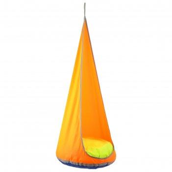 Качель-гамак капля d=600 мм уличный, цвет оранжевый