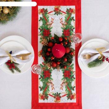 Дорожка на стол этель рождественский бал 30х70 см, 100% хл, саржа 190 гр/м