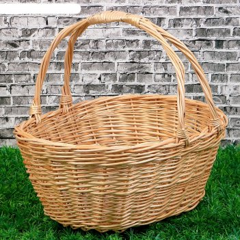 Корзина «для яблок», дно:19x26 см, верх:30x35 см, h=15/35 см, ручное плете
