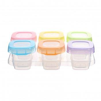 Набор контейнеров для хранения детского питания, 60 мл, 6 шт., на подставк