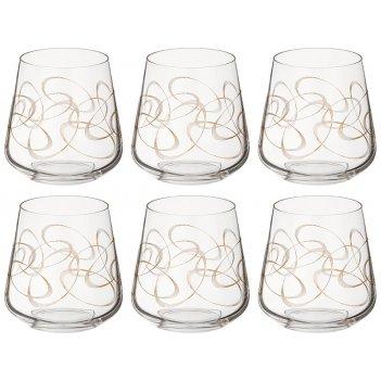 Набор стаканов из 6 шт.sandra 290 мл. высота=9 см. (кор=1набор.)