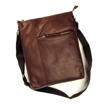 Сумка мужская цвет темно-коричневый 30x32x9 gran carro 17005-2