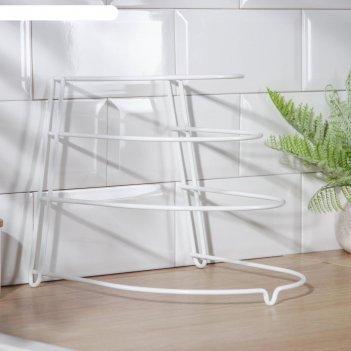 Подставка для хранения сковородок, 23x24x27 см, краска, цвет белый