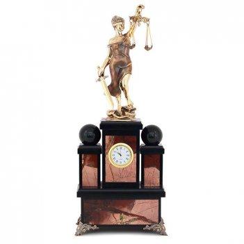 Каминные часы фемида яшма бронза 170х110х430 мм 8000 гр.