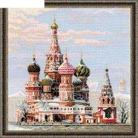 Набор для вышивания крестиком  москва, собор василия блаженного 1260