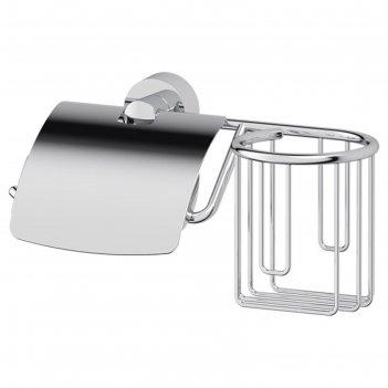 Держатель освежителя воздуха и туалетной бумаги с крышкой, хром, fbs