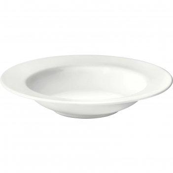 Тарелка глубокая вардаген, 23 см, цвет белый с оттенком