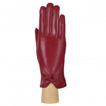 Перчатки женские натуральная кожа/шерсть (размер 6.5) бордовый