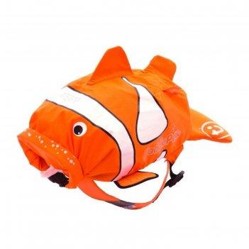 Рюкзак для бассейна и пляжа рыба-клоун цвет оранжевый