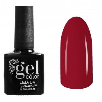 Гель-лак для ногтей трёхфазный led/uv, 10мл, цвет в1-058 ярко-красный