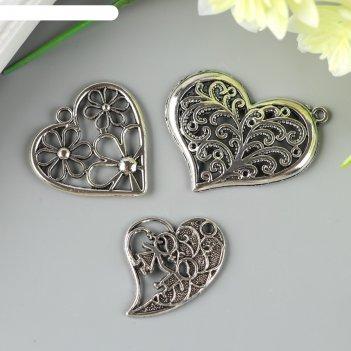 Декор металлический ажурная любовь набор из 3 шт.