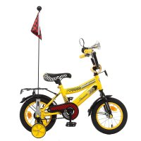 Велосипед двухколесный 12 graffiti premium racer, цвет: желтый