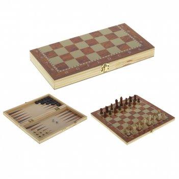 Настольная игра 3 в1 (шахматы, шашки, нарды), l30 w15,5 h3...