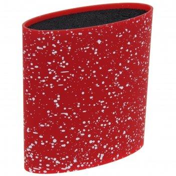 Подставка для ножей 16x7 см зефир, с наполнителем, цвет красный