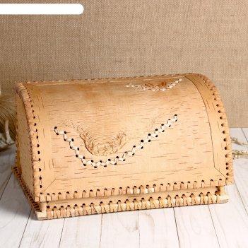 Хлебница «натуральная», 27x22x14 см, береста
