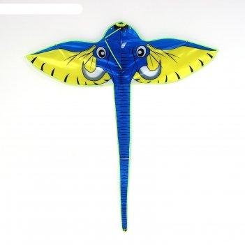 Воздушный змей слон с леской, цвета микс