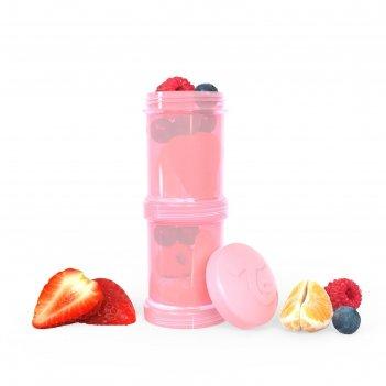 Контейнер для сухой смеси twistshake, цвет пастельный розовый, 100 мл, 2 ш