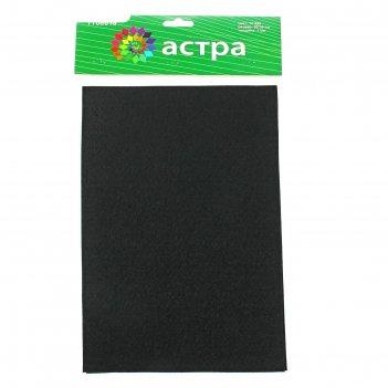 Фетр чёрный, мягкий, 1 мм, 20х30 см, 10 листов
