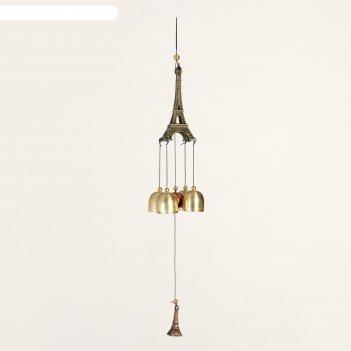Музыка ветра металл эйфелева башня 4 колокольчика 41 см