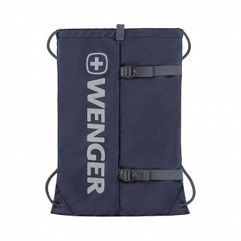 Рюкзак-мешок на завязках wenger, синий, полиэстер, 35x1x48 см, 12 л
