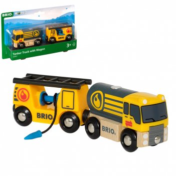 Brio бензовоз, размер в собранном виде 17,3х3,4х4,9 см., размер вагона 8,6